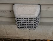 cleaning a clogged dryer vent